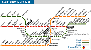 pusan on map busan metro and map how to get around town