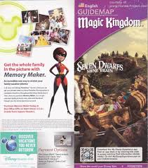 Disney World Map Magic Kingdom by Magic Kingdom Guidemaps