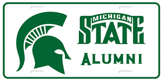 msu alumni license plate frame schools universities custom made plates national flags gator