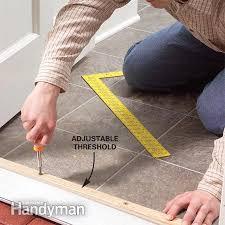 Exterior Door Threshold Installation How To Raise An Adjustable Entry Door Threshold Raising Doors