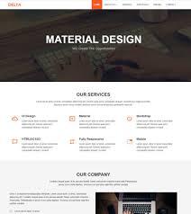 bootstrap design corporate material design bootstrap html template