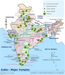 hinduism map map of major temples in india one page hinduism
