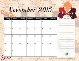 free printable calendar november 2015 s notebook
