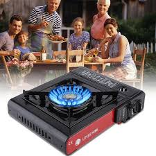 portable table top butane stove balck portable single burner outdoor butane gas cing stove