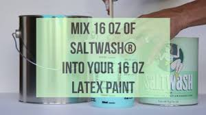 saltwash ratios to mix with latex paint for desired consistency