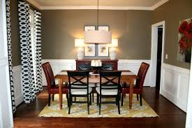 Farmhouse Table Lighting by Dining Room Paint Colors Dark Furniture Round Brown Varnished Wood