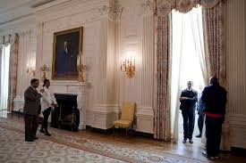 file president and first lady obama tour the state dining room jpg