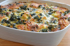 egg strata casserole spinach cheese strata once upon a chef