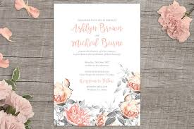 rosa romance free floral wedding invitation printable from