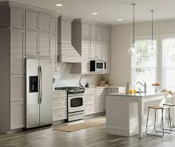 Gray  White Cabinets In Two Tone Kitchen Aristokraft - Gray cabinets kitchen