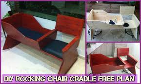 Free Wooden Cradle Plans by Diy Rocking Chair Cradle Combo Baby Crib Free Plan