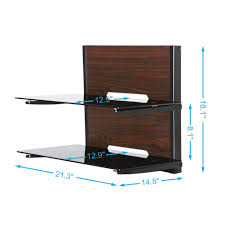 Wall Brackets For Shelving by Fitueyes Audio Visual Wall Mounted 2 Layer Shelves Bracket Stand