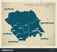 Sheffield England Map by Modern Map Yorkshire Humber Uk Stock Vector 221084707 Shutterstock