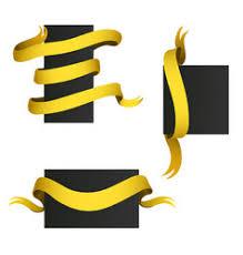 gold ribbons gold ribbons flag banner elegance vector image
