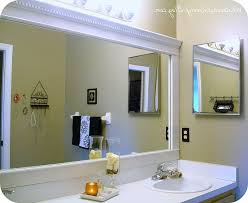 Framing An Existing Bathroom Mirror Frame Around Bathroom Mirror Kavitharia