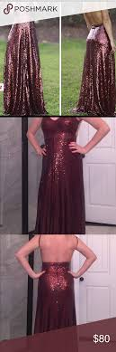 floor l with adjustable neck l atiste by amy formal maroon sequin dress fully sequined floor