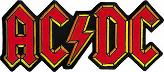 ac dc iron on patch classic letters logo u2013 rock band patches