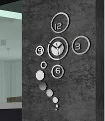 Modern Wall Clock Ring And Circle Acrylic Mirror Wall Clock Home Decor Pinterest