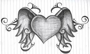 cool drawings of hearts cliparts co