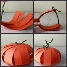 Halloween Decorations For Preschoolers - diy craft paper pumpkin ornaments paper pumpkin craft and