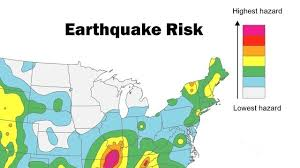 earthquake hazard map usgs parts of south carolina at high risk of earthquakes