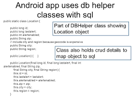 android sql android storage there are several options for storage of data