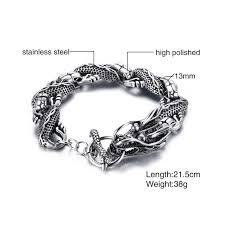 steel bracelet images Dragon link stainless steel bracelet fanduco jpg