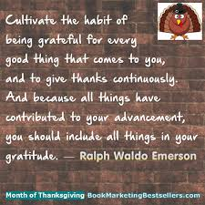 the month of thanksgiving ralph waldo emerson book marketing