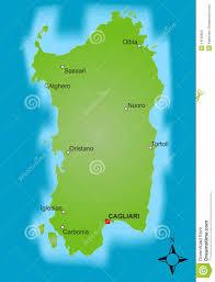 Sardinia Map Map Sardinia Royalty Free Stock Images Image 13198659