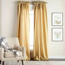 Gold Color Curtains Faux Silk Drapes Icedteafairy Club
