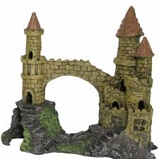 large castle aquarium ornament on sale free uk delivery