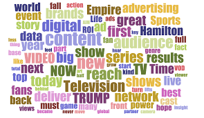 the most popular words used in 2016 tv upfront pitches special