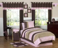Modern Bedding Sets Sweet Jojo Designs Soho Pink And Brown Collection 3pc Full Queen