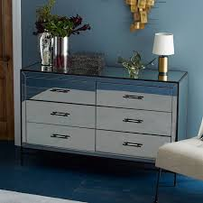 West Elm Bedroom Furniture by Mirrored 6 Drawer Dresser West Elm