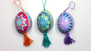diy egg tutorial hanging ukrainian easter eggs pysanky