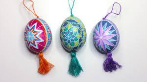 easter egg ornaments diy egg tutorial hanging ukrainian easter eggs pysanky