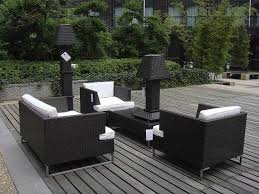 Swivel Wicker Patio Chairs by Outdoor U0026 Garden Black Finished Metal Patio Furniture Set With