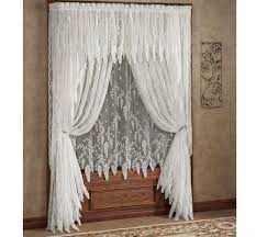 Brown And Ivory Curtains Curtains Vivacious Beautiful Ivory White Lace Curtains Walmart