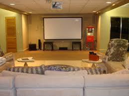 decorations small home basement media room ideas brown leather