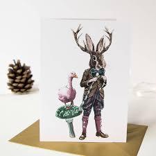 rabbit christmas cards christmas lights card and decore