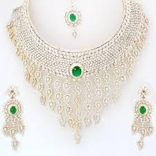 cubic zirconia necklace set images Buy alex jewellery cz necklace sets aj43 online best prices in jpg
