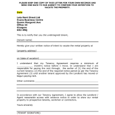 best photos of tenant notice to vacate premises intent rental