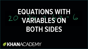 example 2 variables on both sides linear equations algebra i khan academy