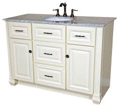 72 Inch Single Sink Vanity 50 Inch Single Sink Vanity Heirloom White Traditional Bathroom