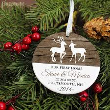 our home ornament rustic deer personalized porcelain