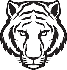free tiger clipart black and white clipartxtras