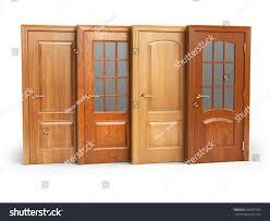 Interior White Doors Sale Sale Wooden Doors Isolated On White Stock Illustration 609597389