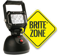 work zone rechargeable led work light britezone led work light 1100 lumens large hand held