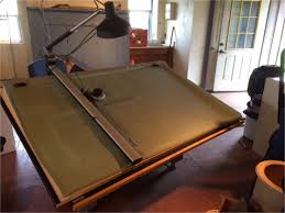 Drafting Table Mayline One 1 Mayline Desk O Matic Ii Drafting Table For Auction