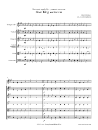 good king wenceslas looked out strings trumpet sheet music by